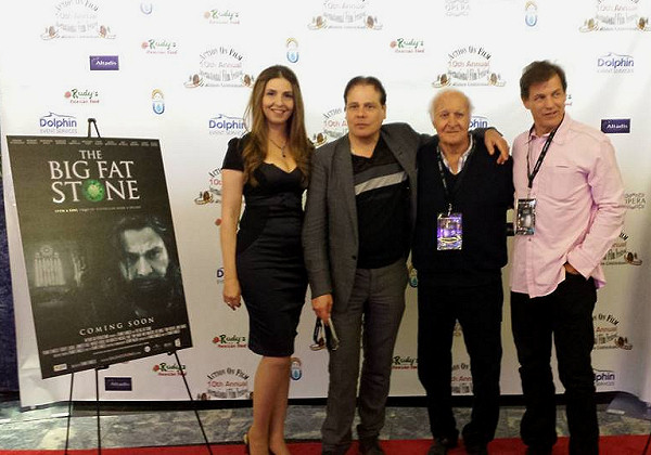 Ellen Dubin on the red carpet of The Big Fat Stone